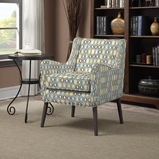 Portfolio Landry Blue Geometric Rings Arm Chair