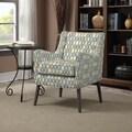 Portfolio Landry Blue Geometric Rings Arm Chair
