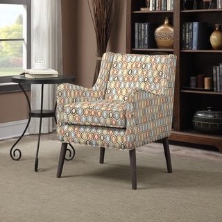 Portfolio Landry Autumn Orange Geometric Rings Arm Chair