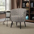 Portfolio Mariel Honeycomb Black Arm Chair