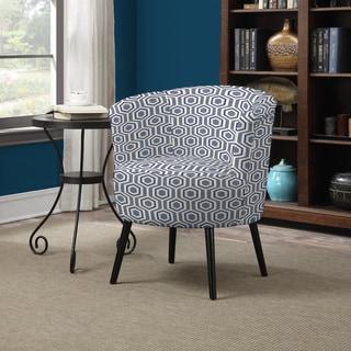 Portfolio Mariel Honeycomb Blue Arm Chair