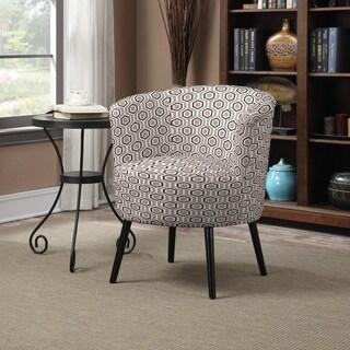 Portfolio Mariel Honeycomb Grey Arm Chair