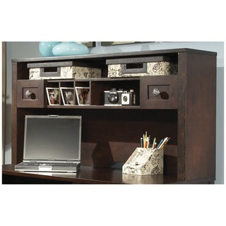 Kathy Ireland Office by Bush Furniture Grand Expressions 48-inch Hutch with Overhead Storage