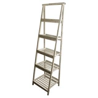 White Wash 5-shelf Gradient Ladder