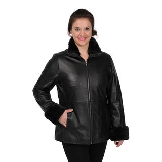 Excelled Women's Lambskin Leather Scuba Jacket
