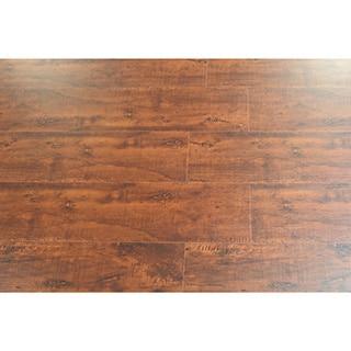 Kokols 8 mm Distressed Brown Hickory Laminate Flooring (25.83 sq ft)
