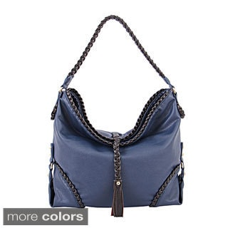 Mellow World 'Romaine' Braided Edges Hobo Bag