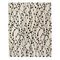 Hand-tufted Synapse Black/White Wool Rug (8' x 10')