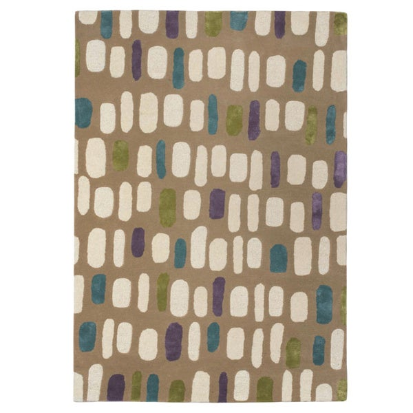 Hand-tufted Jelly Bean Multi Wool Rug (5' x 8')