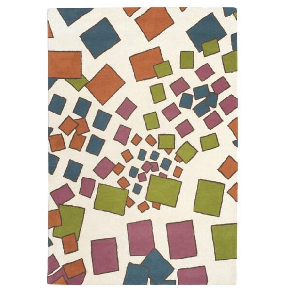 Hand-tufted Confetti Multi-colored Wool Rug (5' x 8')