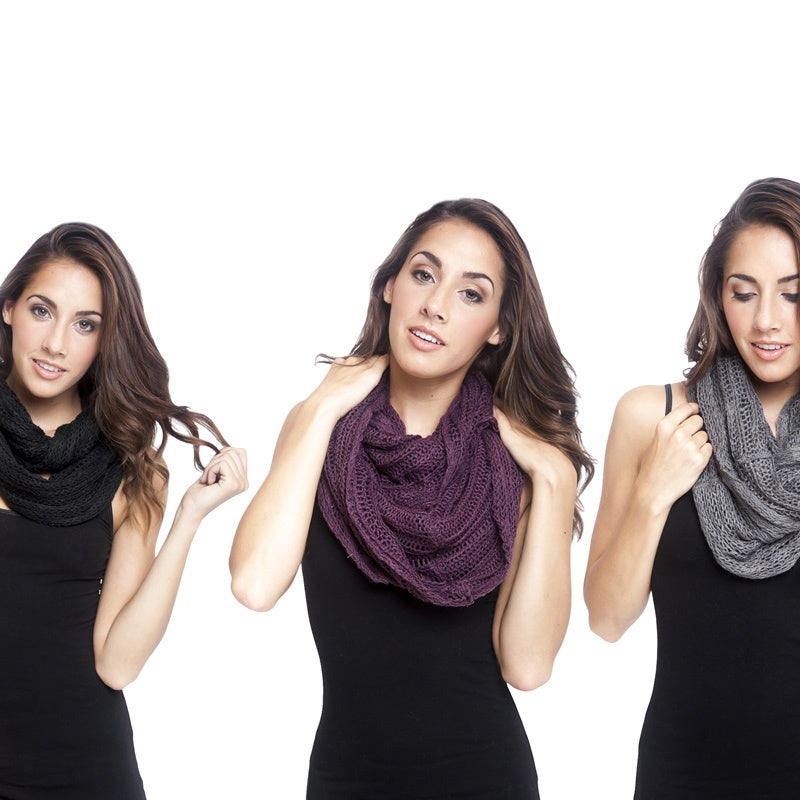 Overstock.com Womens Hand-knit Infinity Cowl Scarf (Nepal)