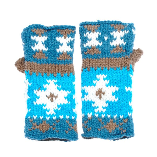 Hand-knit Colorful Fingerless Handwarmers (Nepal)