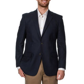 Adolfo Men's Navy Cotton Sportcoat