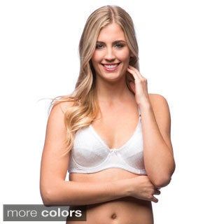 24/7 Frenzy Women's Soft Cup Underwire Jacquard Bra (Pack of 6)