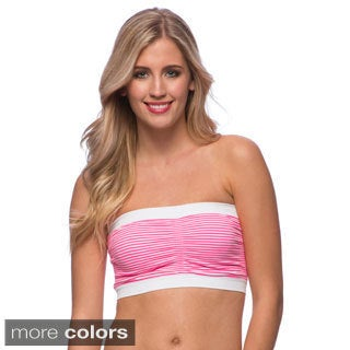 24/7 Frenzy Women's Striped Padded Bandeau Bra (Pack of 6)