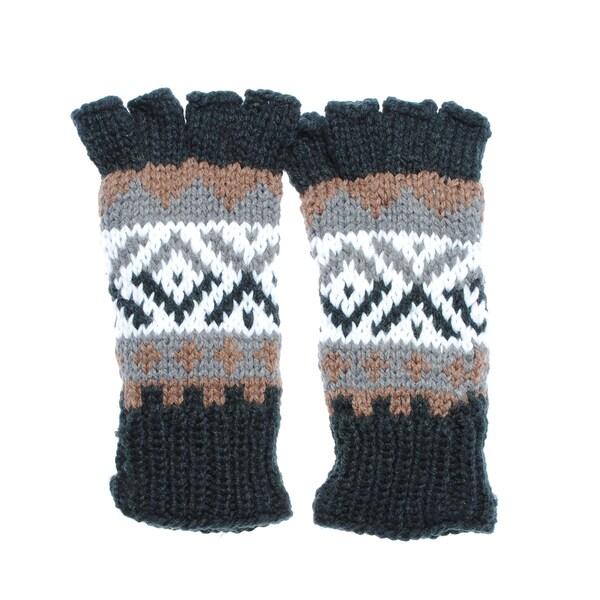 Hand-knit Soft Acrylic Fingerless Handwarmers (Nepal)