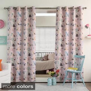 Aurora Home Alphabet Room Darkening Blackout Grommet Curtain Panel Pair