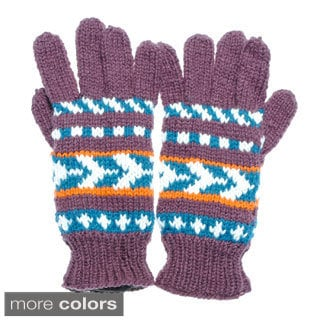 Warm Winter Knit Ski Gloves (Nepal)