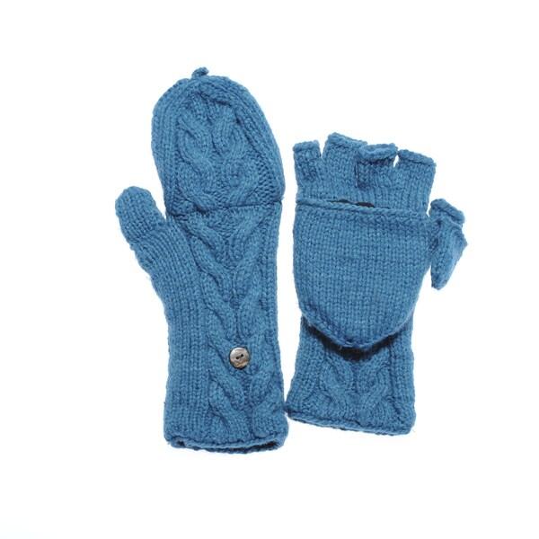 Women's Knit Convertible Fingerless Gloves (Nepal)