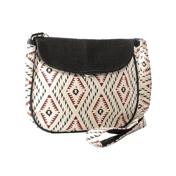 Eco Cotton Printed Crossbody Purse (Nepal)