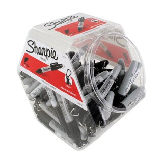 Sharpie Fine Point. Black Ink Mini Permanent Markers (72-pack Canister)