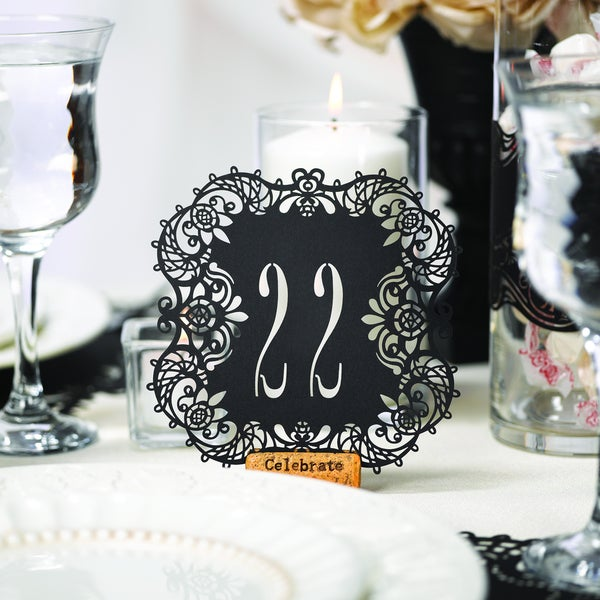 Black Laser-cut Table Cards
