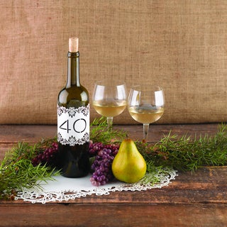 White Shimmer Laser-cut Table Number Wraps