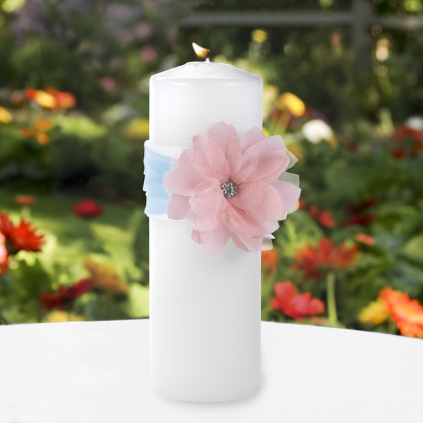 Pretty Pastel Unity Candle with Wrap