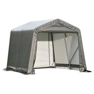 Shelterlogic Outdoor Garage Automotive/ Boat Grey 8 x 10-foot Storage Shed