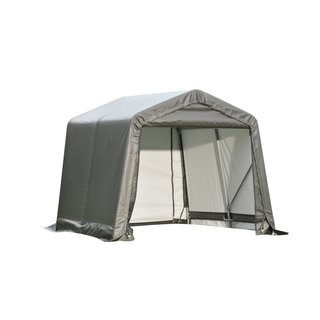 Shelterlogic Outdoor Garage Automotive/ Boat Grey 8 x 16 x 8-foot Storage Shed