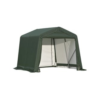 Shelterlogic Outdoor Garage Automotive/ Boat Green 8 x 16 x 8-foot Storage Shed