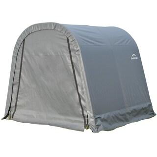 Shelterlogic Outdoor Round Grey Storage Shed 8' x 8' x 8'