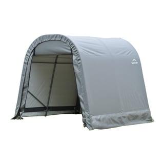 Shelterlogic Outdoor Round Garage Boat/ Car Grey 10 x 8 x 12-foot Storage Shed