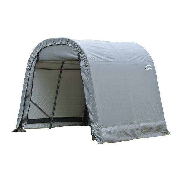 Shelterlogic Outdoor Round Garage Boat/ Car Grey 11 x 10 x 8-foot Storage Shed