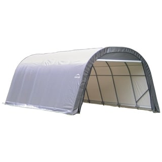 Shelterlogic Outdoor Round Garage Boat/ Car 12 x 8 x 20-foot Storage Shed