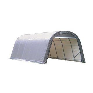 Shelterlogic Outdoor Round Garage Boat/ Car Grey 12 x 8 x 28-foot Storage Shed
