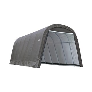 Shelterlogic Outdoor Round Garage Boat/ Car Grey 13 x 10 x 24-foot Storage Shed