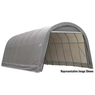 Shelterlogic Outdoor Round Garage Boat/ Car Grey 14 x 12 x 24-foot Storage Shed