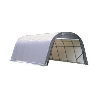 Shelterlogic Outdoor Round Garage Boat/ Car Grey 14 x 12 x 28-foot Storage Shed