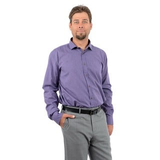 Scott James Men's Purple Mini Check Woven Shirt