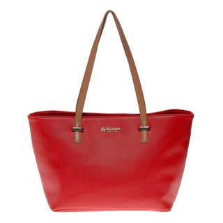 Kenneth Cole Reaction 'Duplicator' Persimmon Saffiano Tote