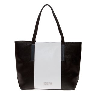 Kenneth Cole Reaction 'Inga' Black and White Colorblocked Tote