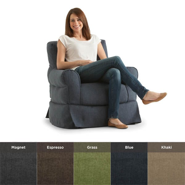 BeanSack Big Joe Lux Babette Linen Bean Bag Arm Chair