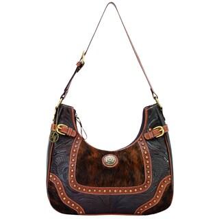 American West Tan and Brindle Hair Concealed Carry Handbag