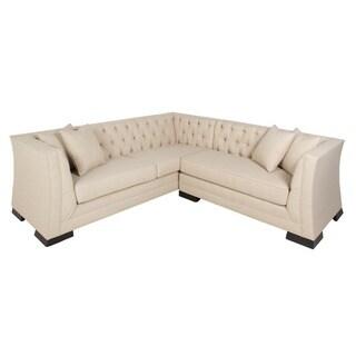 Inncdesign Casanova mid-century Beige Sectional Sofa
