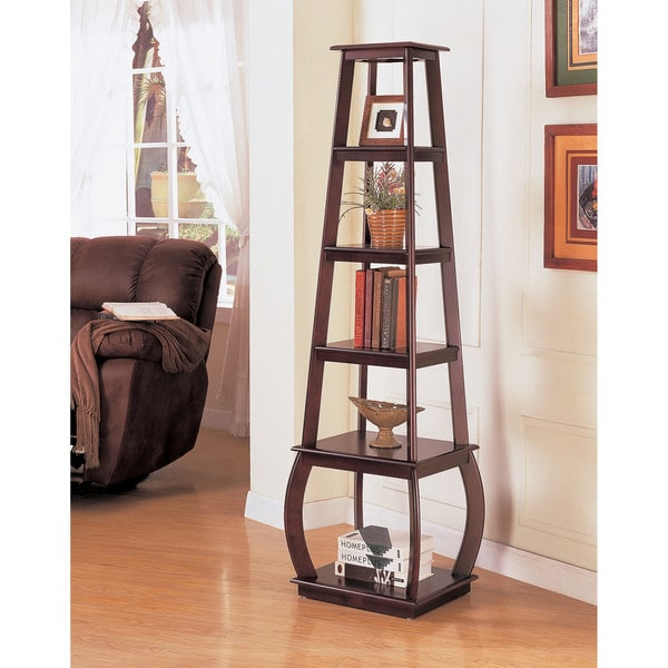 Coaster Square 5-shelf Cappuccino Bookshelf