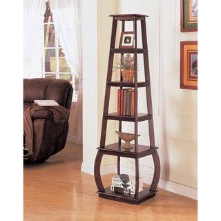 Coaster Square 5-shelf Cappuccino Bookshelf