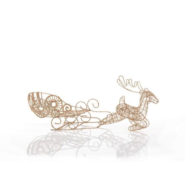Glitter Wire Reindeer and Sleigh