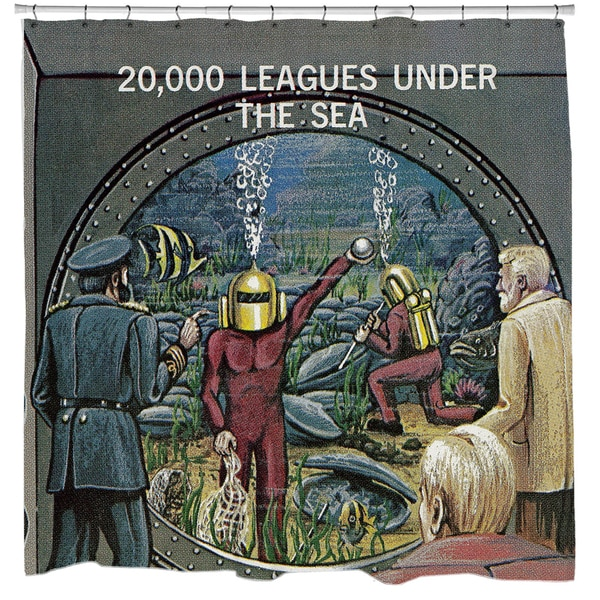 Sharp Shirter 20,000 Leagues Under the Sea Shower Curtain