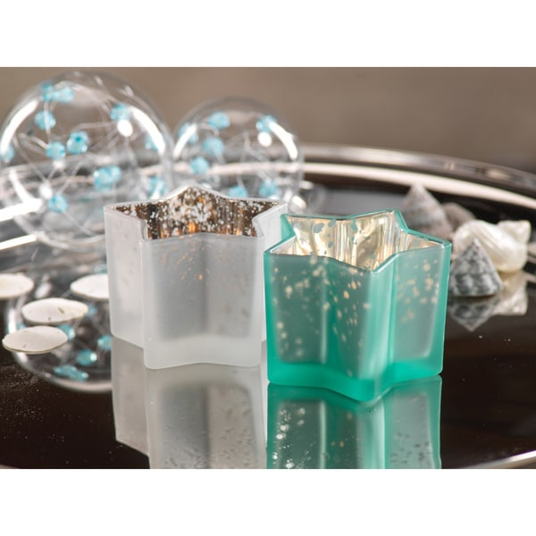 Glass Star Tealight Holder (Set of 4)